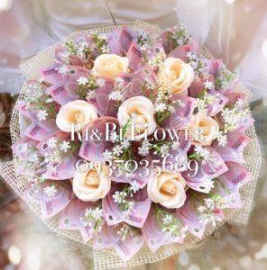 Hoa cưới tiền 50k