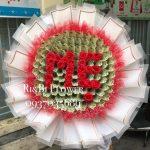 hoa bằng tiền 100k cho lễ 20 tháng 10