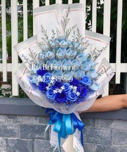 hoa bằng tiền 20k cho lễ 20 tháng 10