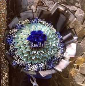 Gói hoa bằng tiền polime